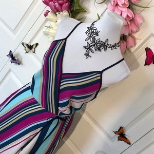 Monteau Dresses - Striking Striped Dress